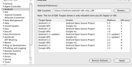 eclipse-android-sdk